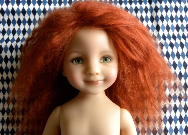 Orange-y red wig