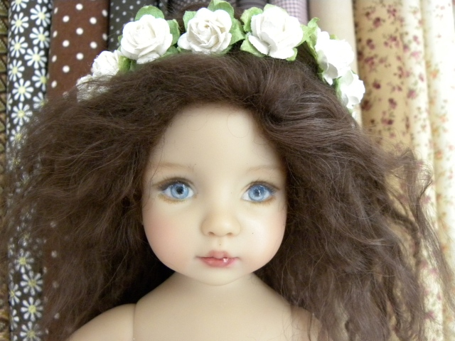 Chocolate Brown mohair wig